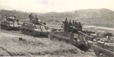 Canadian Tank Unit training for the Korean War