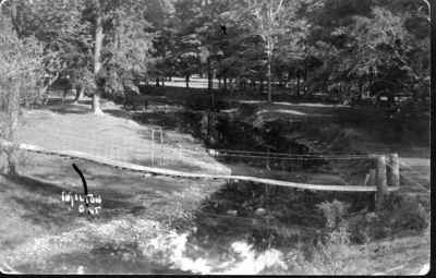 Swing bridge crossing the 16th Mile Creek