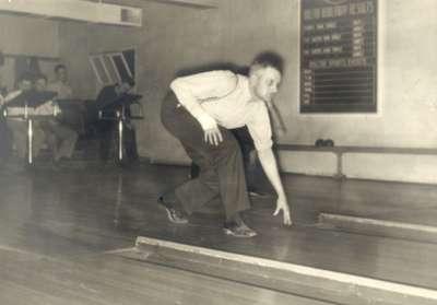 Bob Randall at the old bowling alley