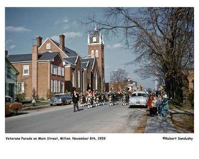 Veterans Parade on Main Street, Milton