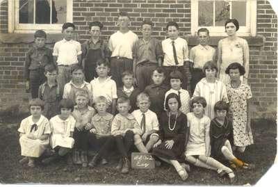 Students at Quatre Bras School, S.S.#2, Esquesing