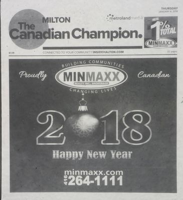 Canadian Champion (Milton, ON), 4 Jan 2018