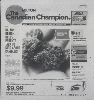 Canadian Champion (Milton, ON), 3 Jan 2019