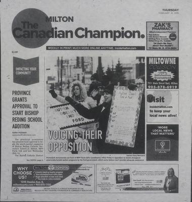 Canadian Champion (Milton, ON), 21 Feb 2019
