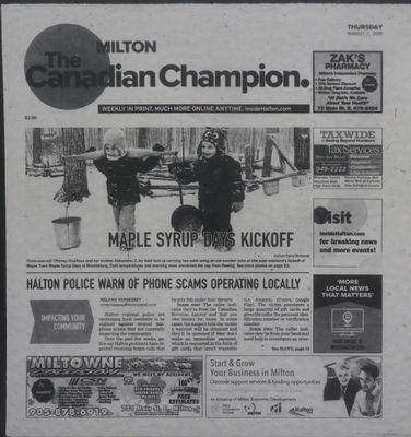 Canadian Champion (Milton, ON), 7 Mar 2019