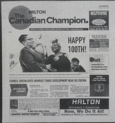 Canadian Champion (Milton, ON), 14 Mar 2019