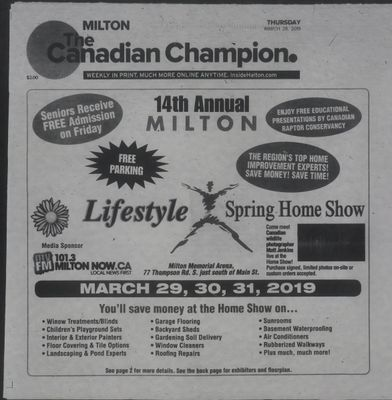 Canadian Champion (Milton, ON), 28 Mar 2019