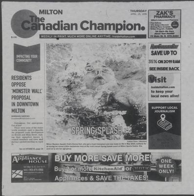 Canadian Champion (Milton, ON), 25 Apr 2019