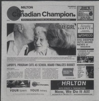 Canadian Champion (Milton, ON), 9 May 2019