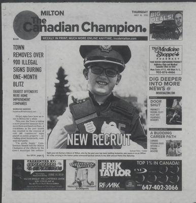 Canadian Champion (Milton, ON), 16 May 2019