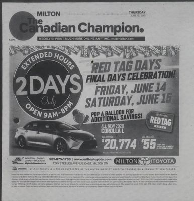 Canadian Champion (Milton, ON), 13 Jun 2019