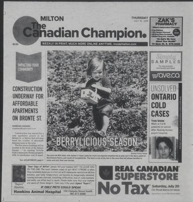 Canadian Champion (Milton, ON), 18 Jul 2019