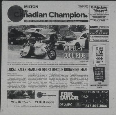 Canadian Champion (Milton, ON), 8 Aug 2019