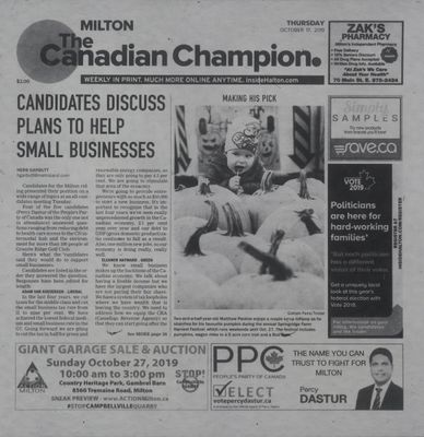 Canadian Champion (Milton, ON), 17 Oct 2019