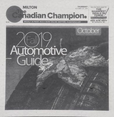 Canadian Champion (Milton, ON), 24 Oct 2019