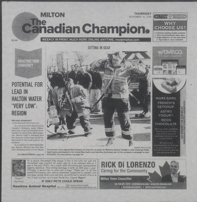 Canadian Champion (Milton, ON), 14 Nov 2019