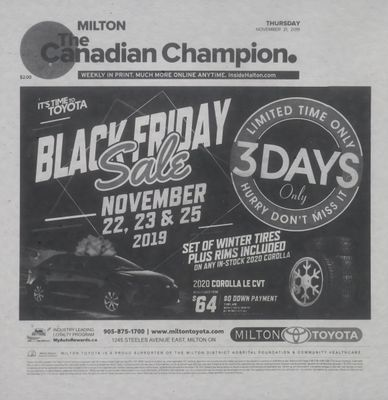 Canadian Champion (Milton, ON), 21 Nov 2019