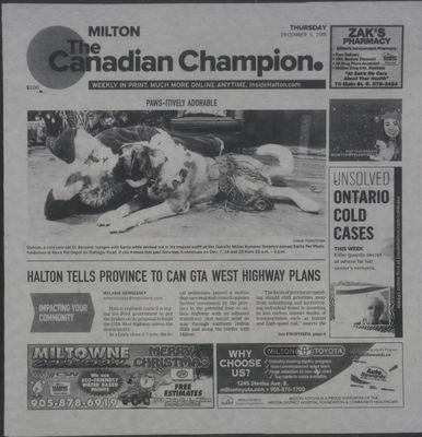 Canadian Champion (Milton, ON), 5 Dec 2019