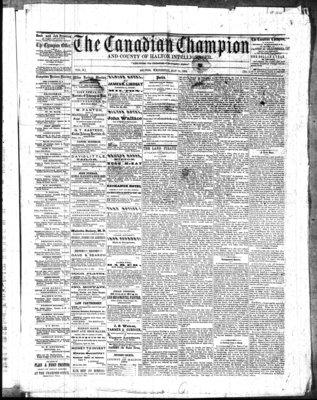 Canadian Champion (Milton, ON), 14 May 1862