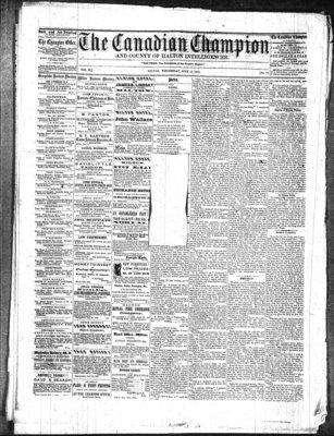 Canadian Champion (Milton, ON), 18 Jun 1862