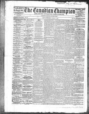 Canadian Champion (Milton, ON), 13 Aug 1862