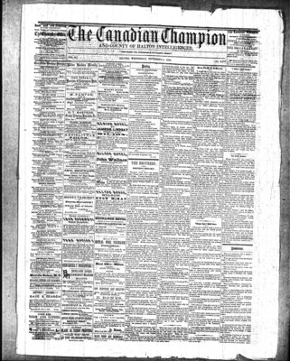 Canadian Champion (Milton, ON), 5 Nov 1862