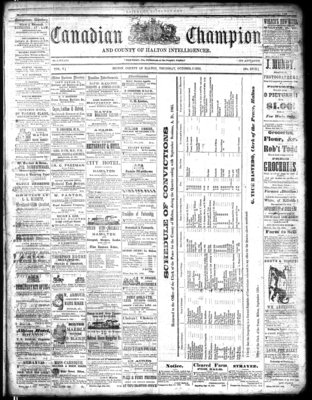Canadian Champion (Milton, ON), 5 Oct 1865