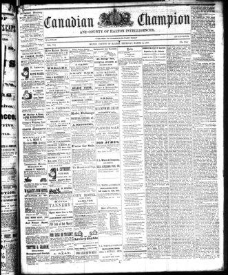 Canadian Champion (Milton, ON), 14 Mar 1867