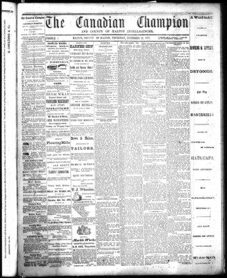 Canadian Champion (Milton, ON), 12 Dec 1872