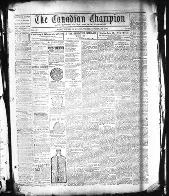 Canadian Champion (Milton, ON), 3 Feb 1881