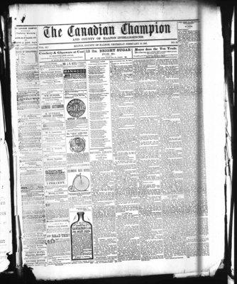 Canadian Champion (Milton, ON), 10 Feb 1881