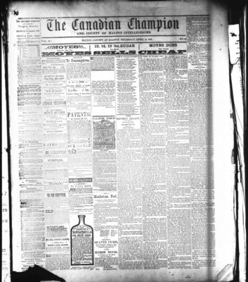 Canadian Champion (Milton, ON), 14 Apr 1881