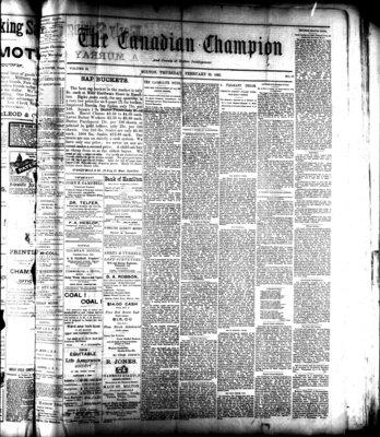 Canadian Champion (Milton, ON), 23 Feb 1893