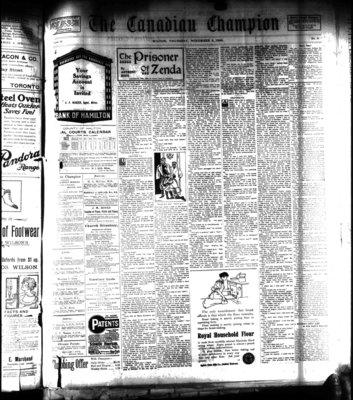 Canadian Champion (Milton, ON), 4 Nov 1909
