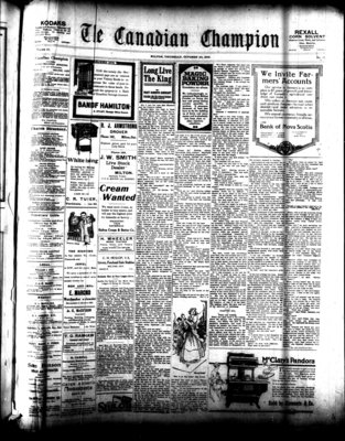 Canadian Champion (Milton, ON), 23 Oct 1919