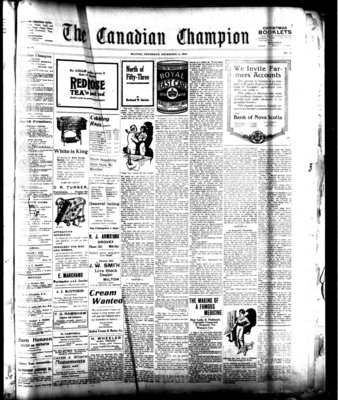 Canadian Champion (Milton, ON), 11 Dec 1919