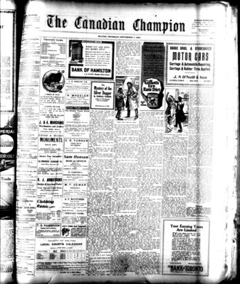 Canadian Champion (Milton, ON), 7 Sep 1922