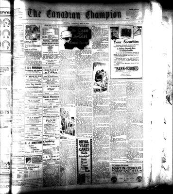 Canadian Champion (Milton, ON), 14 May 1925