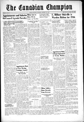 Canadian Champion (Milton, ON), 17 Jan 1946