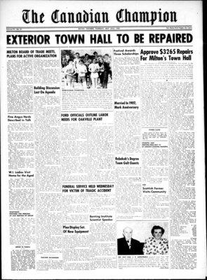 Canadian Champion (Milton, ON), 22 May 1952