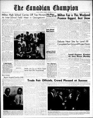 Canadian Champion (Milton, ON), 24 Sep 1959