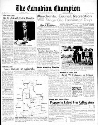 Canadian Champion (Milton, ON), 11 Aug 1965