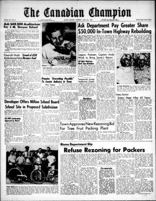 Canadian Champion (Milton, ON), 16 Jun 1960
