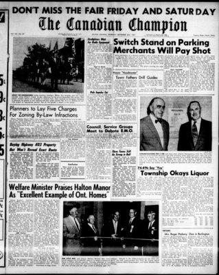 Canadian Champion (Milton, ON), 28 Sep 1961