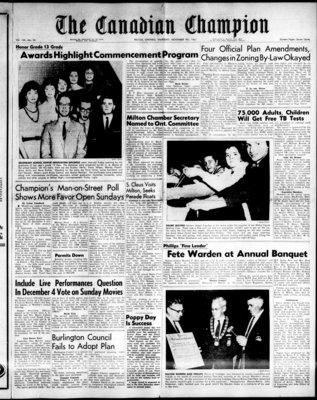 Canadian Champion (Milton, ON), 9 Nov 1961