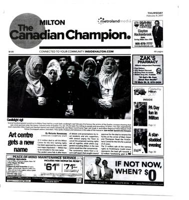 Canadian Champion (Milton, ON), 9 Feb 2017