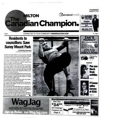 Canadian Champion (Milton, ON), 9 Mar 2017