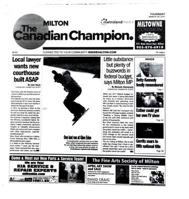 Canadian Champion (Milton, ON), 30 Mar 2017