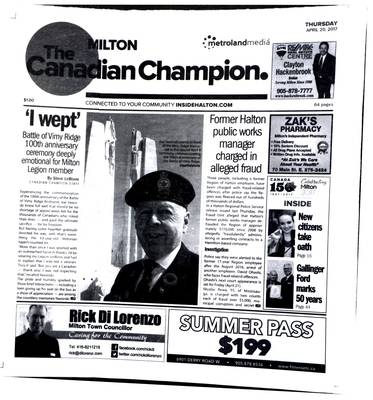 Canadian Champion (Milton, ON), 20 Apr 2017