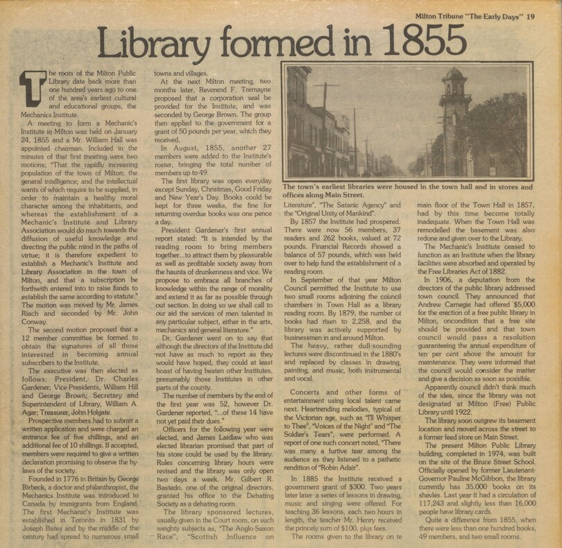 Library Formed in 1855